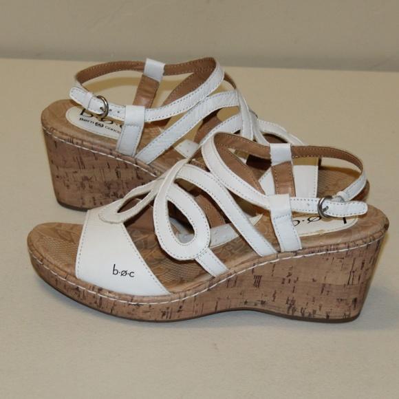 c64156948d Born Shoes | Boc Concepts White Wedge Sandals Women 8 | Poshmark